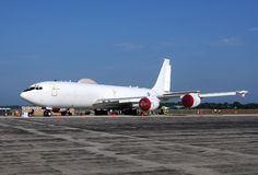 US Navy E-6 Mercury airborne command post Stock Images