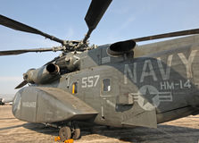 US Navy heavy minesweeping helicopter Royalty Free Stock Images