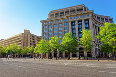 US Navy Memorial and FBI building in Washington DC Royalty Free Stock Photos