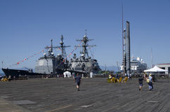US navy ship Royalty Free Stock Image