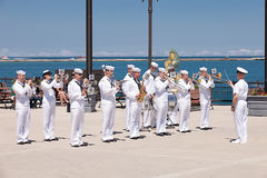US Navy Soldiers at USS Illinois Ceremony Royalty Free Stock Image