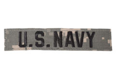 US NAVY uniform badge Stock Photography