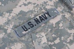 Us navy uniform Stock Image