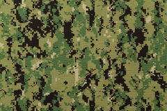 US navy working uniform aor 2 digital camouflage Stock Images