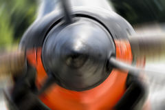 US Navy World War II T-34 Mentor trainer Blur Royalty Free Stock Photos