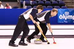 US Olympic Curling Trials Stock Photo