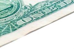 US one dollar bill closeup macro, 1 usd banknote Royalty Free Stock Photos