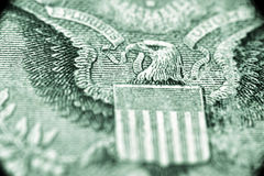 US one dollar macro. Shot, focus on eagle Royalty Free Stock Images