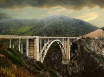 Overcast day on Big Sur, California royalty free stock photo