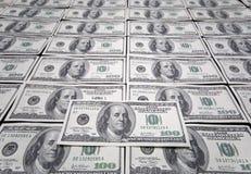 US one hundred dollar. Bills background Stock Photos