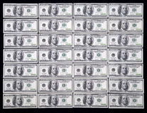 US one hundred dollar. US money one hundred dollar bills background Stock Photo