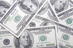 US One Hundred Dollar Banknotes Background Stock Photography