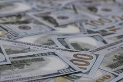 US One Hundred Dollar Banknotes Stock Photo