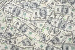 US one hundred dollar bills. Background Stock Photography