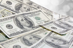 US One Hundred Dollar Bills Background Royalty Free Stock Image