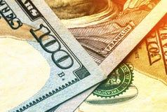 US one hundred dollar bills money background.  Royalty Free Stock Image