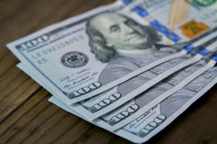 US One Hundred ($100) Dollar Bills Stock Images