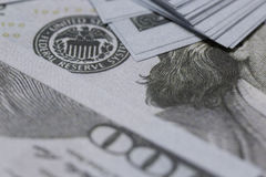 US One Hundred Dollar closeup Royalty Free Stock Images