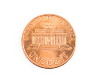 US one US cent coin isolated Royalty Free Stock Photography