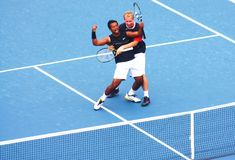 US Open 2009 - Mens Doubles Semi-finals Stock Photos