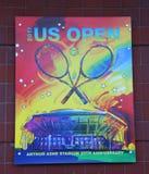US Open 2017 affiche op vertoning in Billie Jean King National Tennis Center in New York Stock Foto
