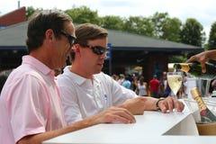 US Open 2014 Besucher an Champagner Moet und Chandon Aufenthaltsraum am nationalen Tennis zentrieren Lizenzfreie Stockfotos