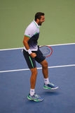 US Open 2014 champion Marin Cilic during final match against Kei Nishikori at Billie Jean King National Tennis Center Stock Photography