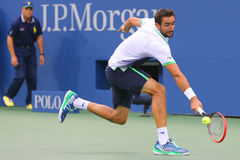 US Open 2014 champion Marin Cilic during final match against Kei Nishikori at Billie Jean King National Tennis Center Stock Image
