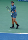US Open 2013 champion Rafael Nadal during his final match against Novak Djokovic Stock Photo