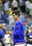 US Open 2015 (17) de Djokovic Novak Photographie stock