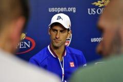 US Open 2015 (19) de Djokovic Novak Photos stock