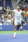 US Open 2015 (53a) de Federer Roger (SUI) Photographie stock