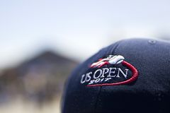 US Open. Detail from US Open tennis tournament in New York, USA. At 2017 it was held between August 22 and September 10 Stock Photos
