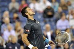 US Open 2013 (399) di Djokovic Fotografia Stock Libera da Diritti