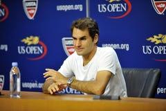 US Open 2015 (87) di Federer Roger (SUI) Fotografie Stock Libere da Diritti