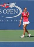 US Open 2014 dziewczyn młodzieżowy mistrz Maria Bouzkova od republika czech podczas definitywnego dopasowania Obrazy Stock