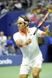 US Open 2015 (56) Federer Roger (SUI) Lizenzfreie Stockbilder