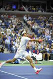 US Open 2015 (34) Federer Roger (SUI) lizenzfreie stockfotos