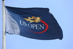 US Open flag  at Billie Jean King National Tennis Center during  US Open 2013 Stock Images