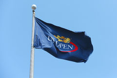 US Open-Flagge bei Billie Jean King National Tennis Center Stockfotos