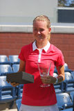 US Open 2014 girls junior champion Marie Bouzkova from Czech Republic during trophy presentation Stock Photos