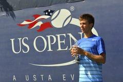 US Open junior 2013 de champion de Coric Borna Photographie stock libre de droits