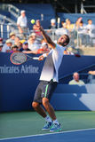 US Open 2014 kampioen Marin Cilic van Kroatië tijdens US Open 2014 ronde gelijke 4 Royalty-vrije Stock Foto's