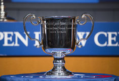 US Open Men singles trophy presented at the 2013 US Open Draw Ceremony Royalty Free Stock Image