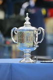US Open Men singles trophy during trophy presentation after US Open 2014 championship match Royalty Free Stock Photo