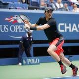 US Open 2017 mieszających kopii wstawia się Jamie Murray Wielki Brytania w akci podczas definitywnego dopasowania Obrazy Royalty Free