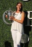 US Open 2015 mistrz Flavia Pennetta uczęszcza 2016 us open dnia premierego Zdjęcia Royalty Free