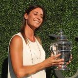 US Open 2015 mistrz Flavia Pennetta uczęszcza 2016 us open dnia premierego Obrazy Stock