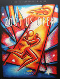 US Open 2001 poster on display at the Billie Jean King National Tennis Center Stock Photo