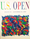 US Open 1992 poster on display at the Billie Jean King National Tennis Center Stock Photography